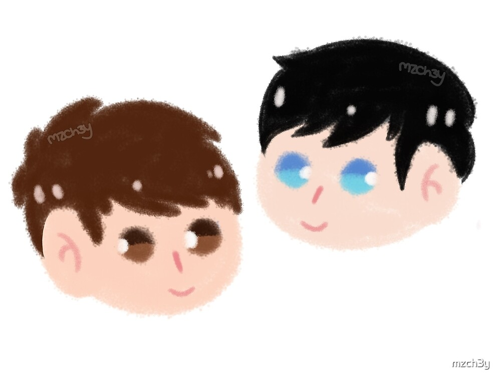 Dan and Phil heads by mzch3y
