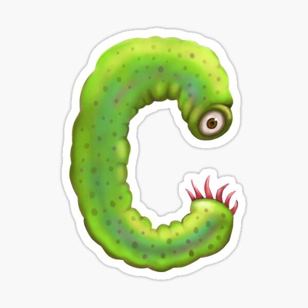 Monster Letter C Sticker