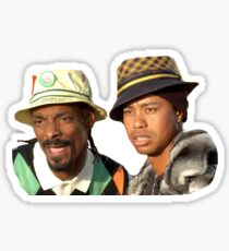 Tiger Woods and Snoop Dogg Sticker