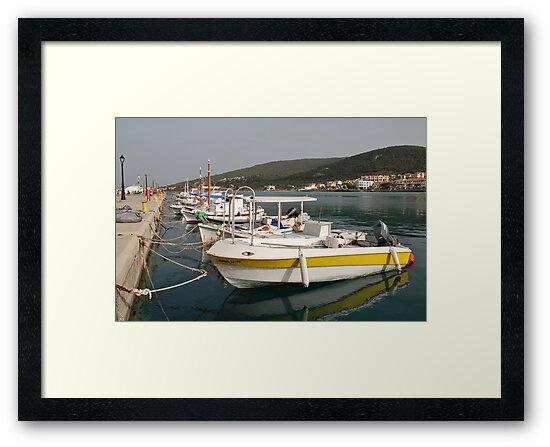 Milos boats, Agistri by David Fowler