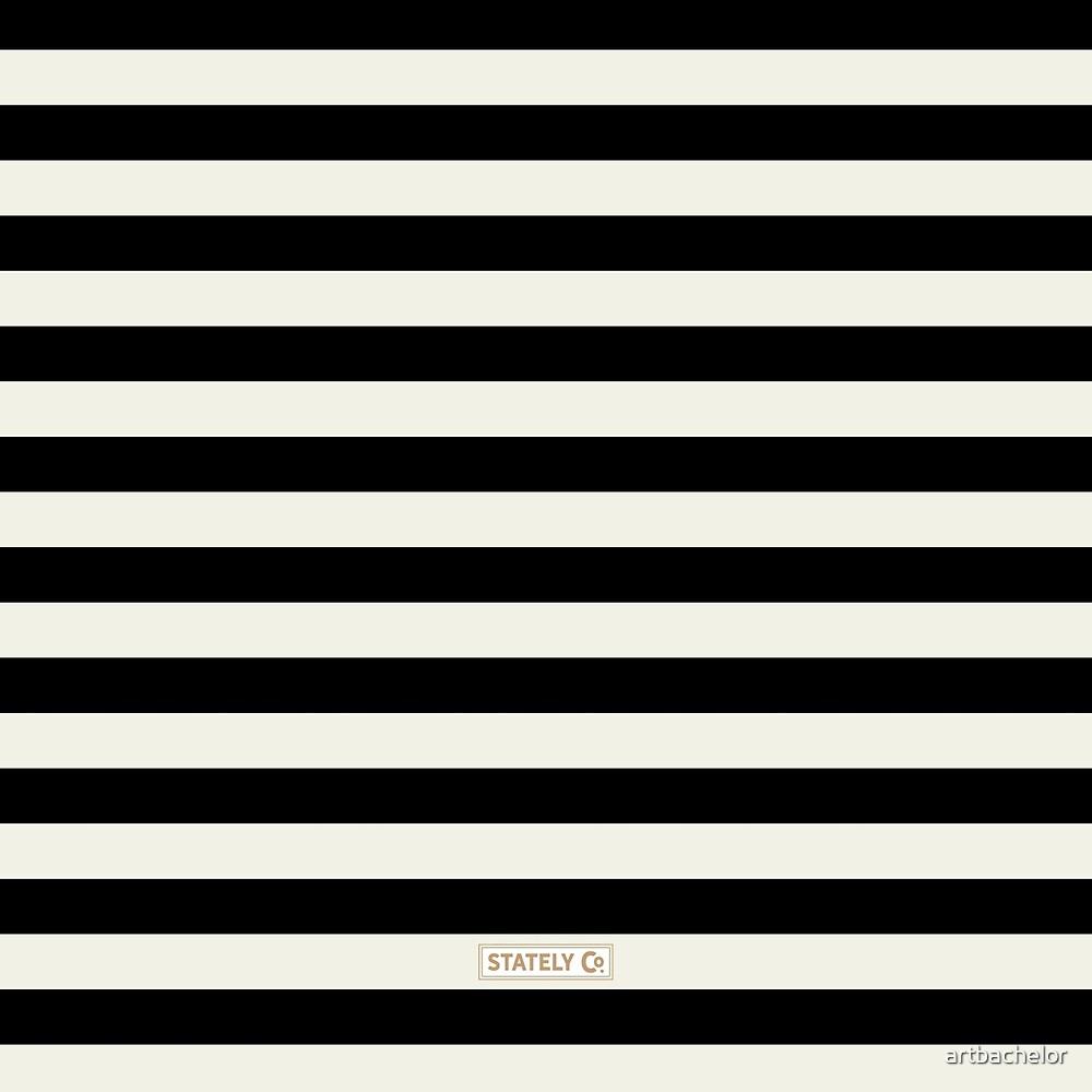 Black and Ivory Elegant Stripes by artbachelor