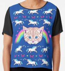 Most Meowgical Sweater Chiffon Top