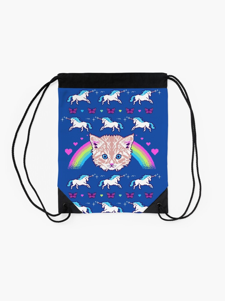 Alternate view of Most Meowgical Sweater Drawstring Bag