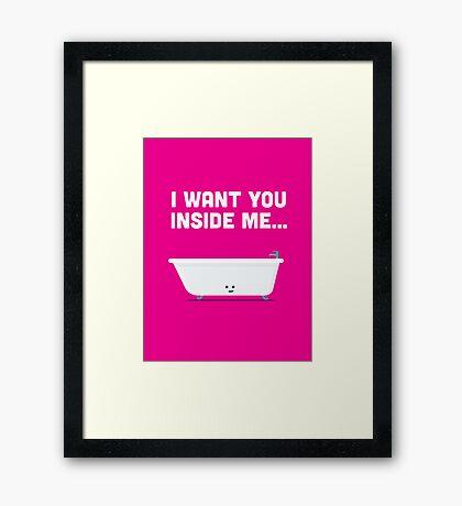 Character Building - Valentines - Bathtub - Inside Me Framed Print