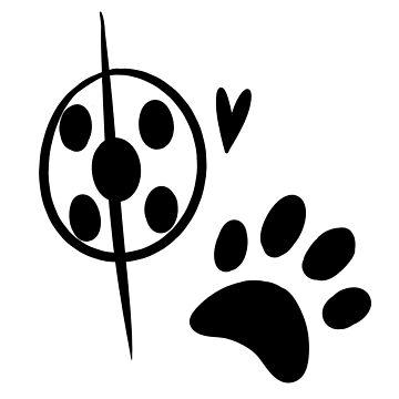 Miraculous Ladybug Chat Noir and Ladybug Signatures by shimawishes