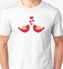 Birds love hearts Unisex T-Shirt