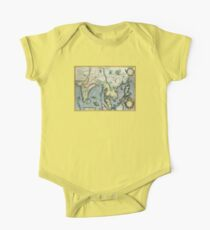 Southern Asian Continent Map 1600s One Piece - Short Sleeve