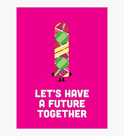 Character Building - Valentines - Hoverboard - Future Photographic Print
