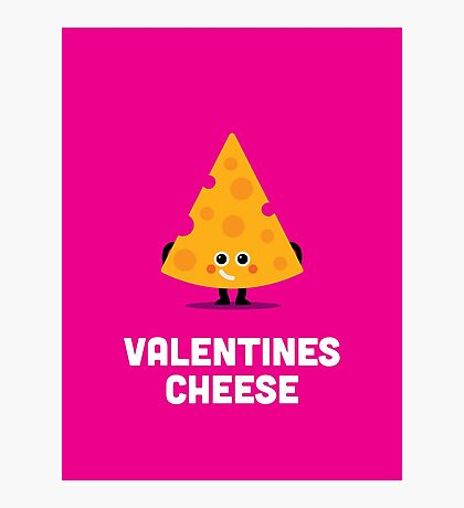 Character Building - Valentines - Cheese Photographic Print