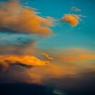 Amazing Sunset Cloud Scene in the Sky  by Roschetzky