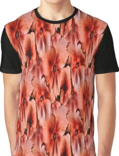 Peach Primrose Flowers Abstract Graphic T-Shirt