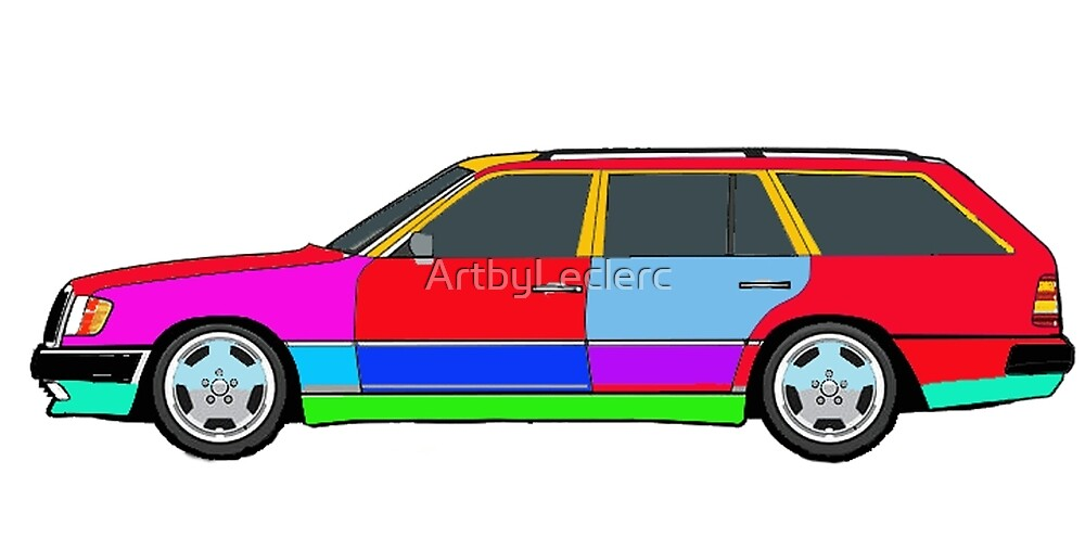 Mercedes W124 300TE by ArtbyLeclerc