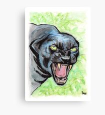 Mad Black Panther Impression sur toile