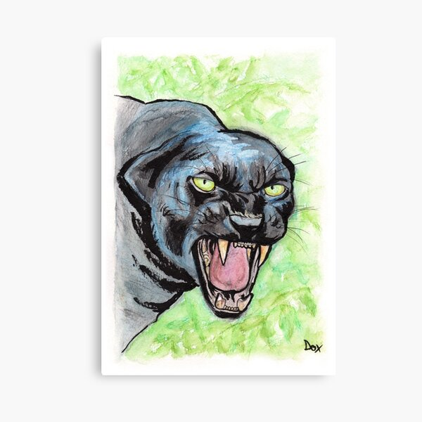 Mad Black Panther Impression sur toile