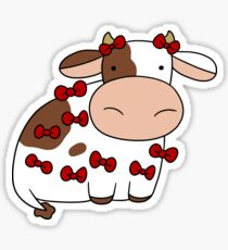 Cow Covered in Bows Sticker
