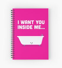 Character Building - Valentines - Bathtub - Inside Me Spiral Notebook