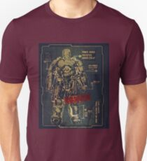 BLUEPRINT TEE - POWER IRON ARMOR VINTAGE Unisex T-Shirt