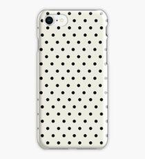 Black and Ivory Elegant Polka Dots iPhone Case/Skin