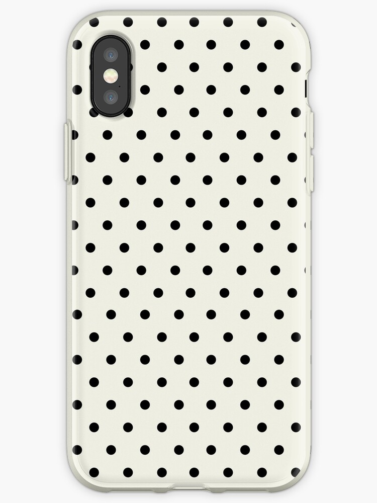 Black and Ivory Elegant Polka Dots by artbachelor