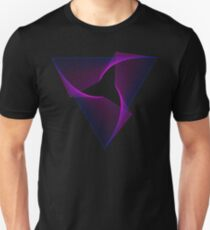 Abstract Geometry Line Art Neon Triangle T-Shirt