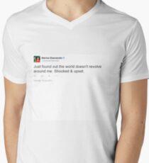 Just found out the world doesn't revolve around me. Shocked & Upset - Marina Diamandis Men's V-Neck T-Shirt