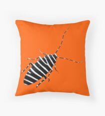The Zebra Roach Throw Pillow