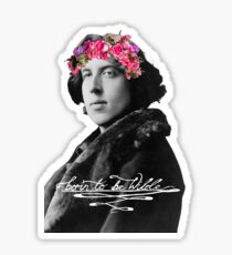 Born to be Wilde with flower crown Sticker