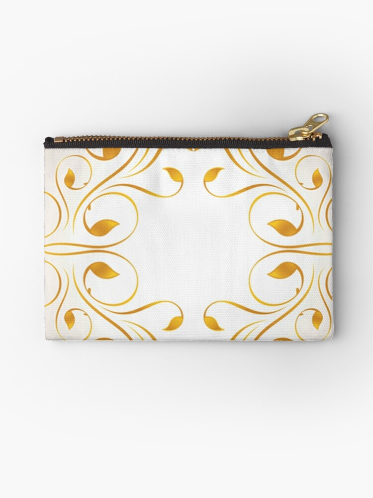 Beautiful,floral,wavy,gold,on white, pattern,elegant,chic,modern,trendy by love999