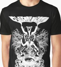 Camiseta gráfica Electric Wizard - Baphomet (White)
