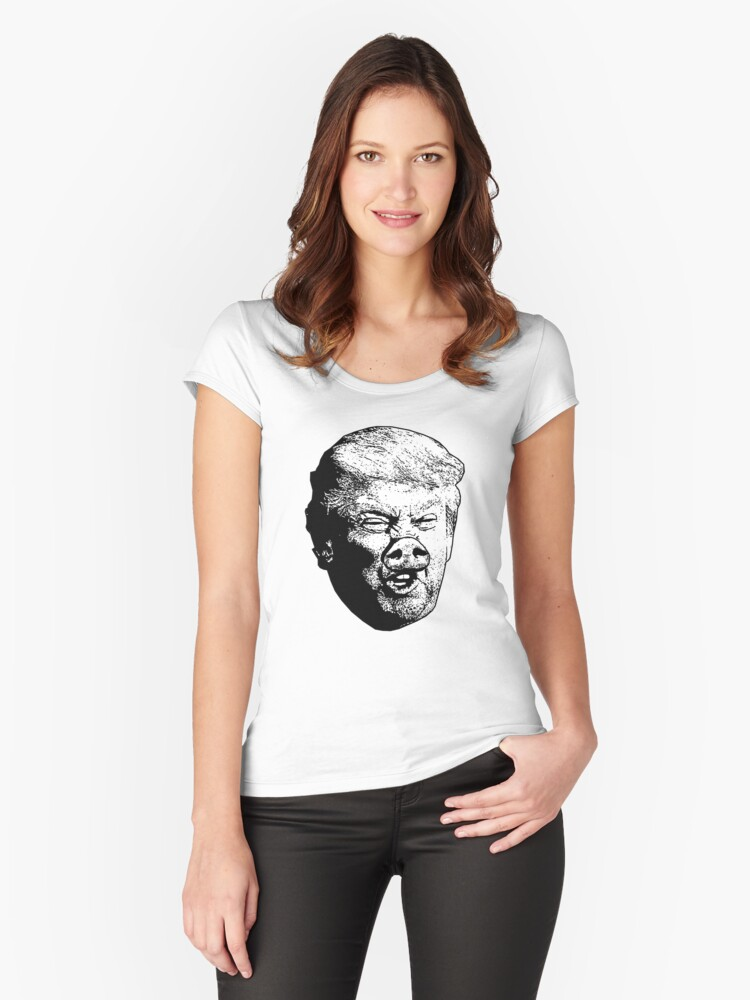 Donald Drumpf - Misogynist Women's Fitted Scoop T-Shirt Front
