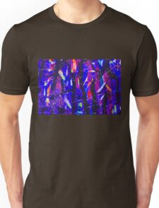 Abstract Shapes Geometric Pattern Purple Black Pink Doodle Boho Unisex T-Shirt