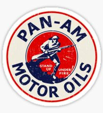Pan Am Motor Oils Sticker