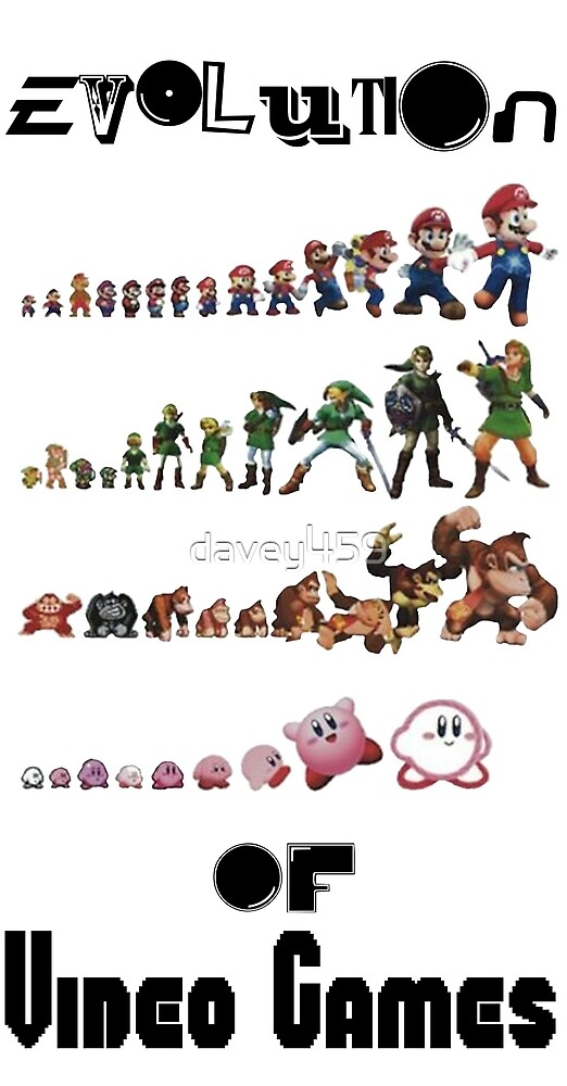 Evolution of Video Games by davey459