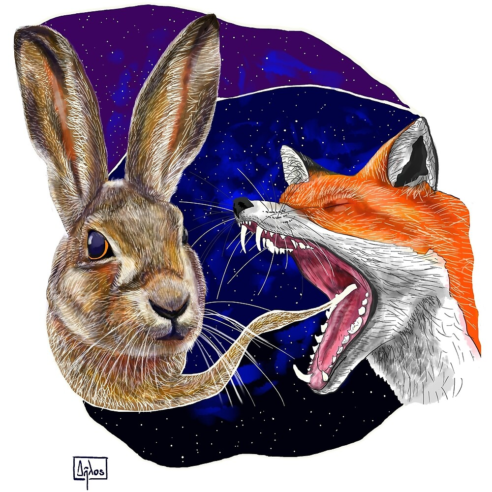 Fox and Hare by RobertClear