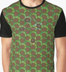 TMNT Version of the Reptile Hexagonal Tessellation Graphic T-Shirt