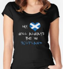 My Heart Will Always Be In Scotland Women's Fitted Scoop T-Shirt