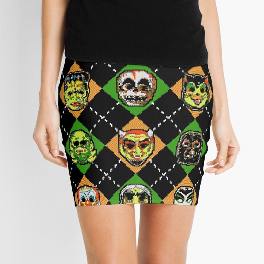 Scary Christmask Mini Skirt