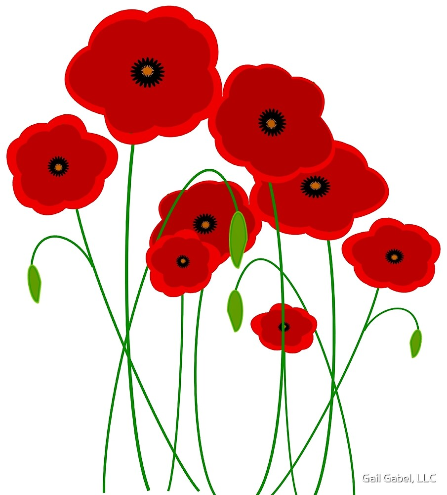 Red Poppies by Gail Gabel, LLC