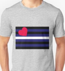 Leather, Latex and BDSM Pride Flag T-Shirt