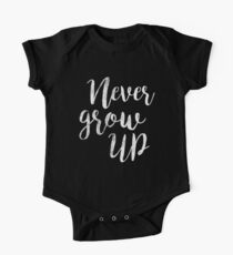 Never Grow up | Peter pan | Movie Quote Kids Clothes