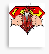 Super Hero Man Spider Hero Man Awesome Shirt Canvas Print