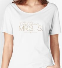 The Future Mrs. S Bride-to-Be, Gold Women's Relaxed Fit T-Shirt