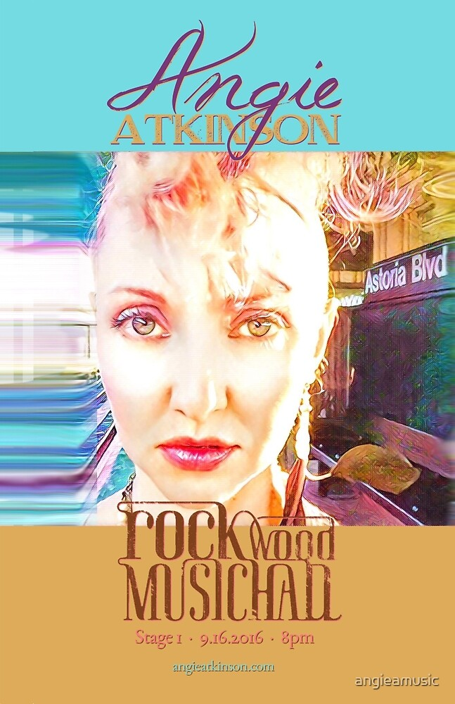 Rockwood Music Hall Gig Flyer, September 2016 by angieamusic