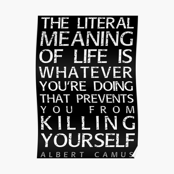 Albert Camus and the meaning of life Poster