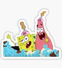Spongebob und Patrick bekommen Krunk Sticker