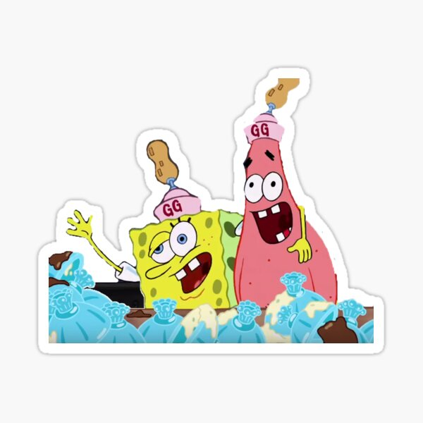 Spongebob and Patrick get krunk Sticker