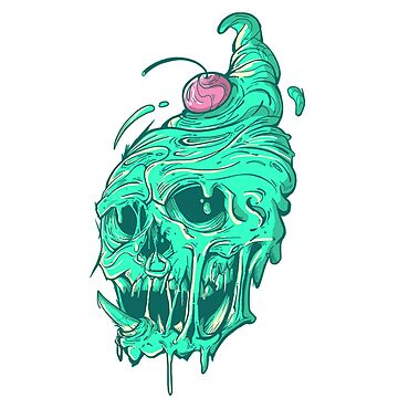Ice cream Skull (Mint Flavor) by Pikeiros