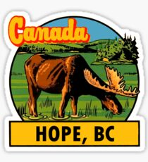 Hope BC British Columbia Moose Vintage Travel Decal Sticker