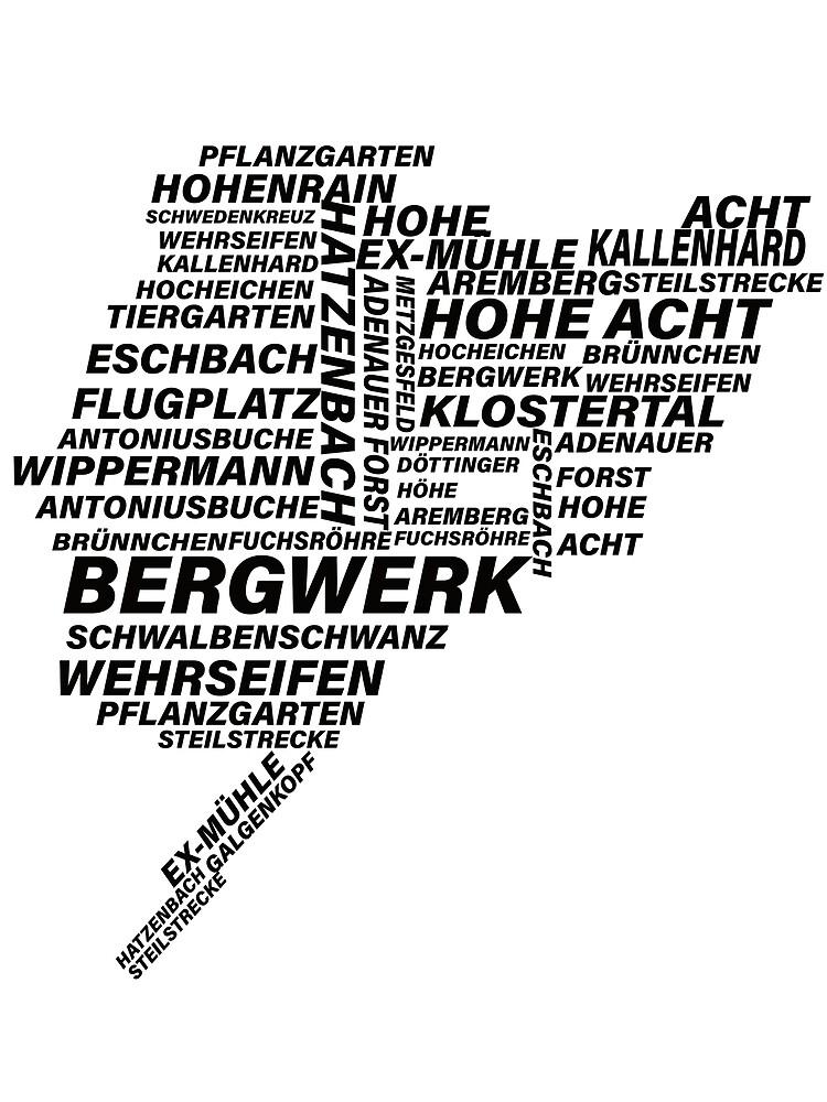Nordschleife Word Cloud by Shirtmedia