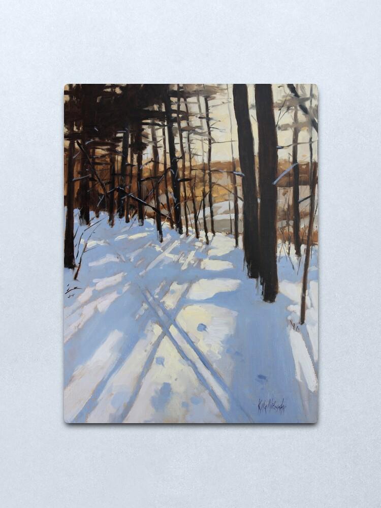 Alternate view of Skiing Beaver Pond Trail Metal Print